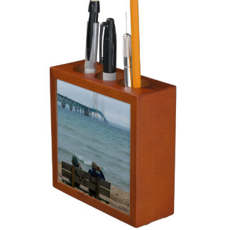 Viewing Mackinac Bridge Desk Organizer
