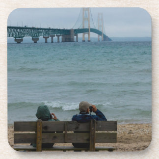 Viewing Mackinac Bridge Drink Coaster