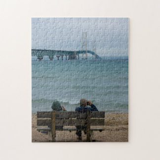 Viewing Mackinac Bridge Jigsaw Puzzle