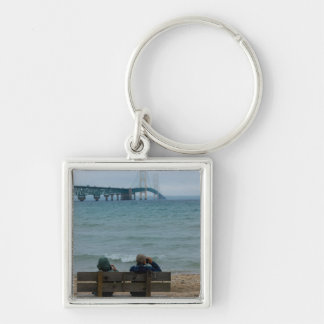 Viewing Mackinac Bridge Keychain