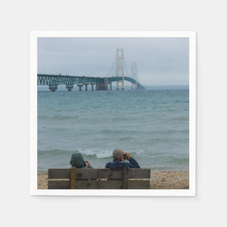 Viewing Mackinac Bridge Napkin