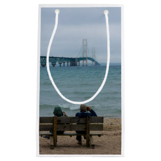 Viewing Mackinac Bridge Small Gift Bag