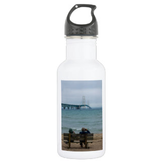 Viewing Mackinac Bridge Stainless Steel Water Bottle