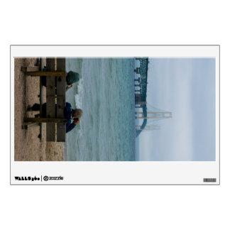 Viewing Mackinac Bridge Wall Sticker