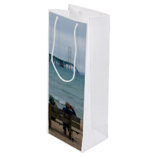 Viewing Mackinac Bridge Wine Gift Bag