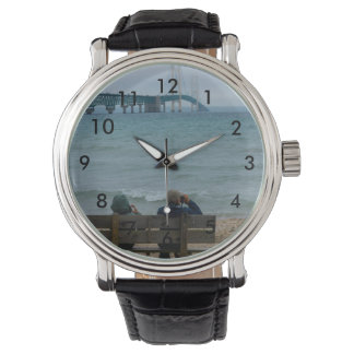 Viewing Mackinac Bridge Wrist Watch