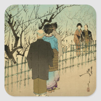 Viewing the Plum Blossoms Stickers