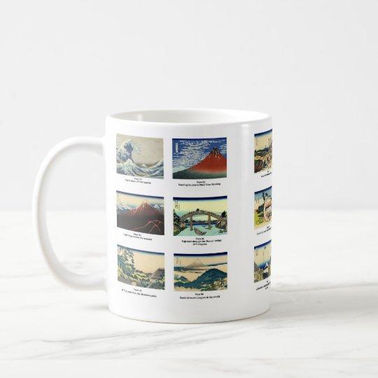 Views 01 through view 18 of Mount Fuji mug