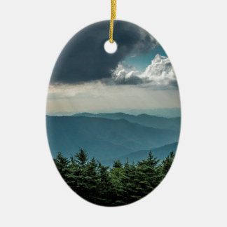 Views From Mount Mitchell Ceramic Ornament