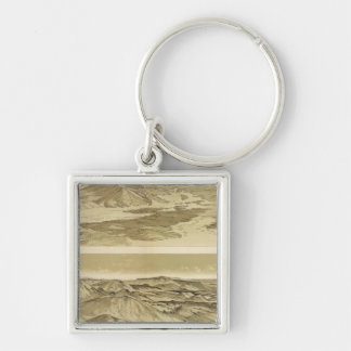 Views from Mount Trumbull and Mount Emma Silver-Colored Square Keychain