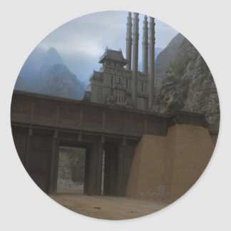 Views from Nepal on way to MOUNT EVEREST Round Sticker