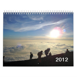 Views from Summit of Mt. Fuji, Japan Wall Calendars