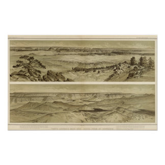 Views looking east and south from Mt Trumbull Poster
