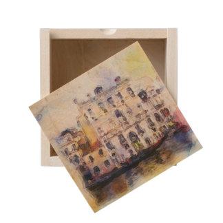 Views od Venice made in artistic watercolor Wooden Keepsake Box