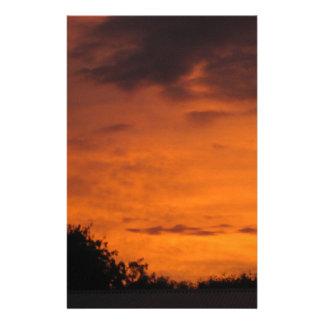 Views of Australia fiery skies Stationery