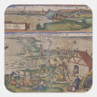 Views of Cadiz Square Sticker