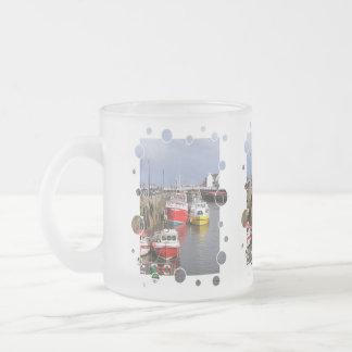 VIEWS OF ENGLAND FROSTED GLASS COFFEE MUG