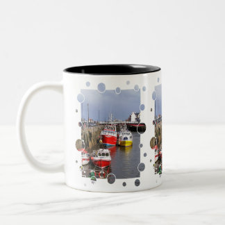 VIEWS OF ENGLAND Two-Tone COFFEE MUG