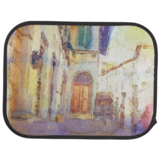 Views of Florence made in artistic watercolor Car Mat