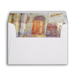 Views of Florence made in artistic watercolor Envelope