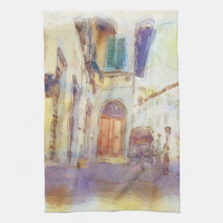 Views of Florence made in artistic watercolor Kitchen Towel