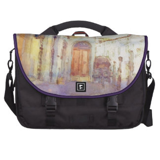 Views of Florence made in artistic watercolor Laptop Messenger Bag