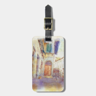 Views of Florence made in artistic watercolor Luggage Tag