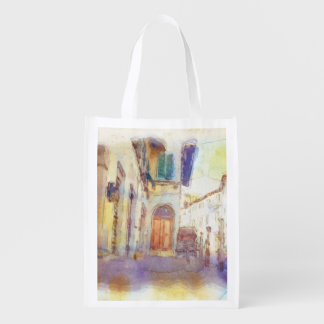 Views of Florence made in artistic watercolor Market Tote