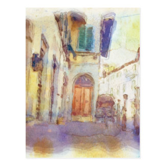 Views of Florence made in artistic watercolor Postcard