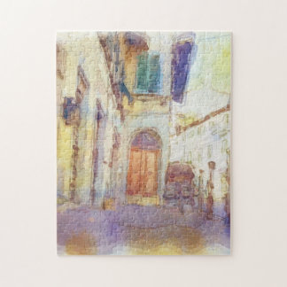 Views of Florence made in artistic watercolor Puzzle