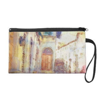 Views of Florence made in artistic watercolor Wristlet Purses