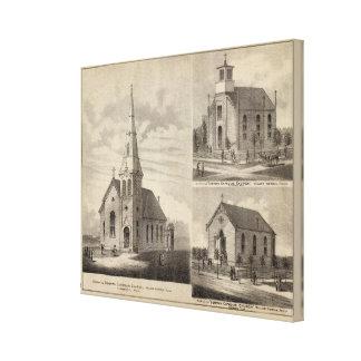 Views of German Catholic Churches in Minnesota Canvas Print