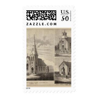 Views of German Catholic Churches in Minnesota Postage