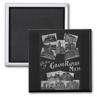 Views of Grand Rapids Michigan Vintage Magnet