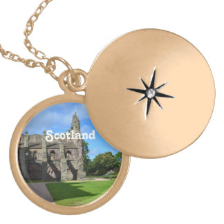 Views of Holyrood Abbey Gold Plated Necklace