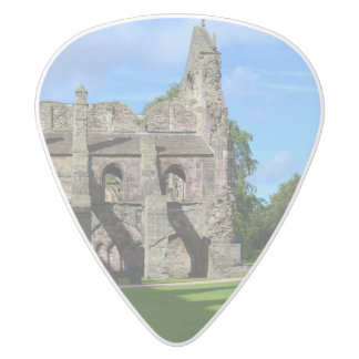 Views of Holyrood Abbey White Delrin Guitar Pick