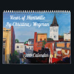 """Views of Huntsville Calendar<br><div class=""""desc"""">A new painting of my hometown,  Huntsville,  Alabama,  for every month!  Perfect for folks who are familiar with North Alabama or who just enjoy colorful artwork of the American South.</div>"""