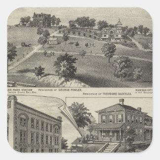 Views of Kansas City, Kansas Square Sticker