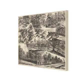 Views of Merriam Park, Kansas Canvas Print