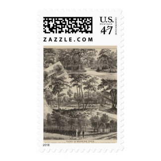 Views of Merriam Park, Kansas Postage Stamp