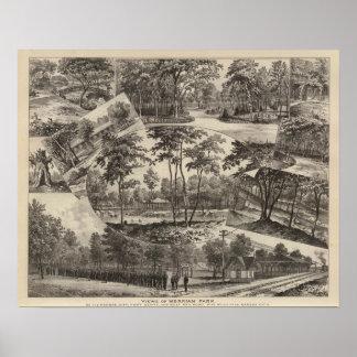 Views of Merriam Park, Kansas Poster