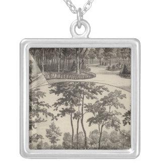 Views of Merriam Park, Kansas Square Pendant Necklace
