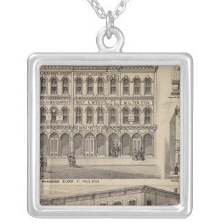 Views of Moore's and Wabashaw, Minnesota Silver Plated Necklace