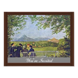 Views Of Salzburg By Julius Schnorr Von Carolsfeld 4.25x5.5 Paper Invitation Card