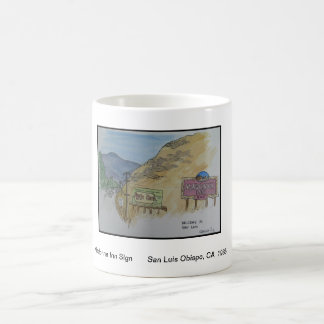 Views of San Luis Obispo, Madonna Inn Sign Coffee Mug