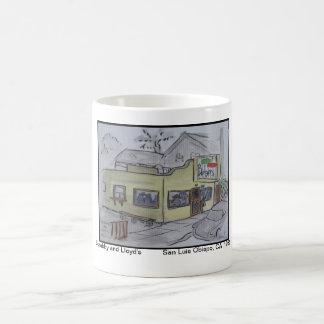 Views of San Luis Obispo, Scrubby and Lloyd's Coffee Mug