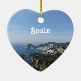 Views of Spanish Coast Ceramic Ornament