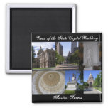 Views of State Capitol Building, Austin, Texas Fridge Magnet