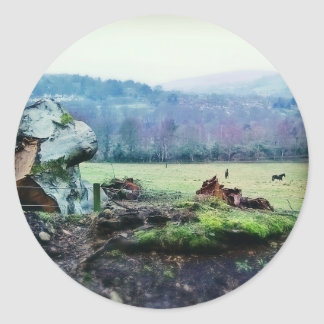 Views of the Countryside Classic Round Sticker