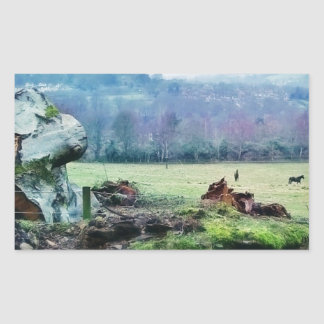 Views of the Countryside Rectangular Sticker